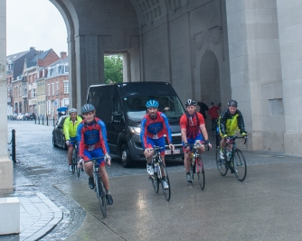 Menin Gate arrival in Ypres, Belgium
