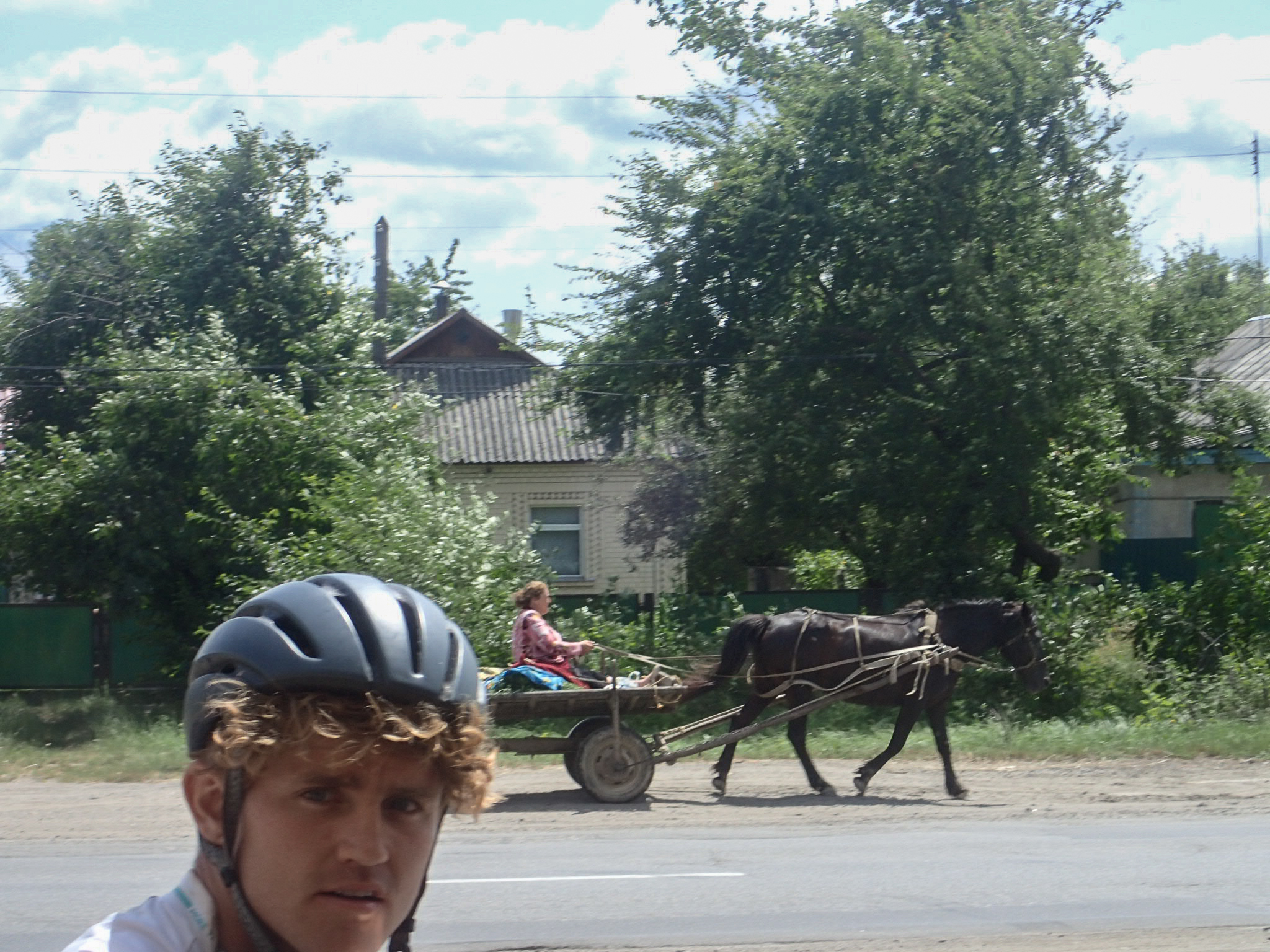Linford, thinking a horse and cart might be a better option