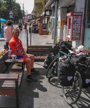 Keith: breakfast in Kviv, Ukraine
