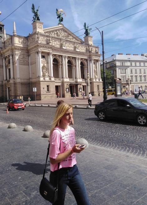 People watching in Lviv, Ukraine