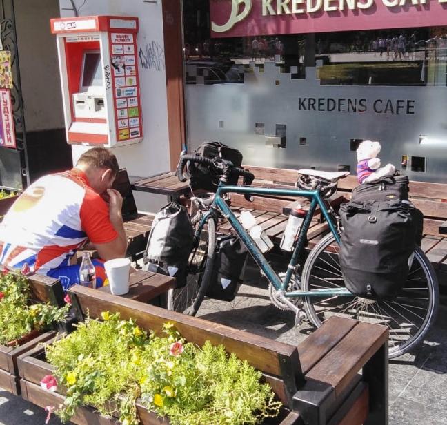 Keith: breakfast in Kviv, Ukraine