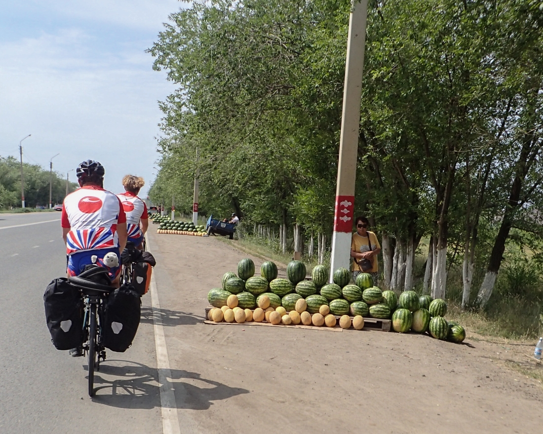 Roadside water-melon sellers