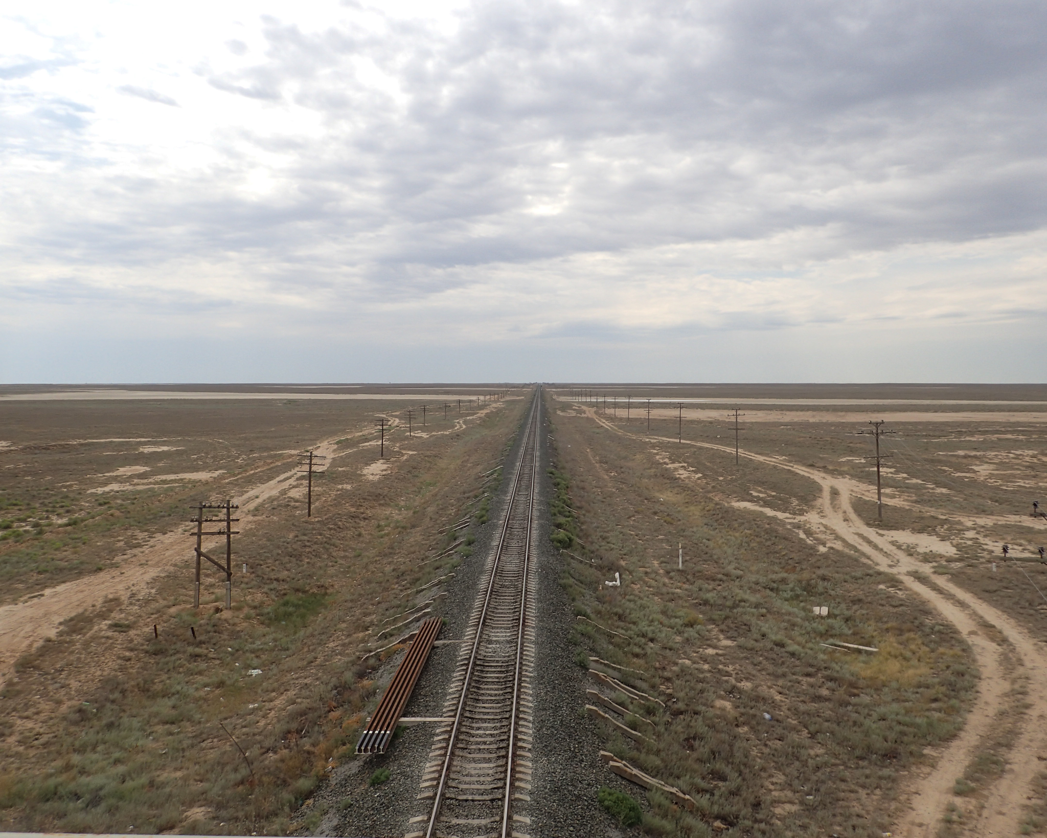 Railway tracks. Soviet Gauge 5' or 1520mm