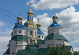 A church in New Archangel, Ukraine