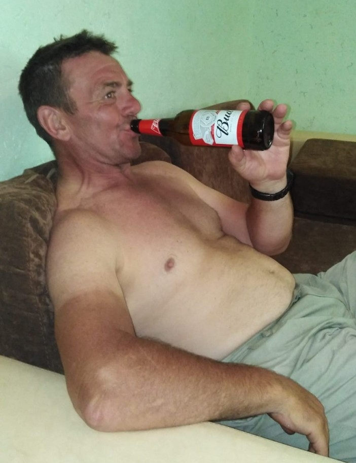 Keith with a Czech Bud beer