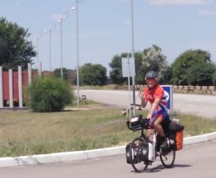 Linford on the road in Ukraine
