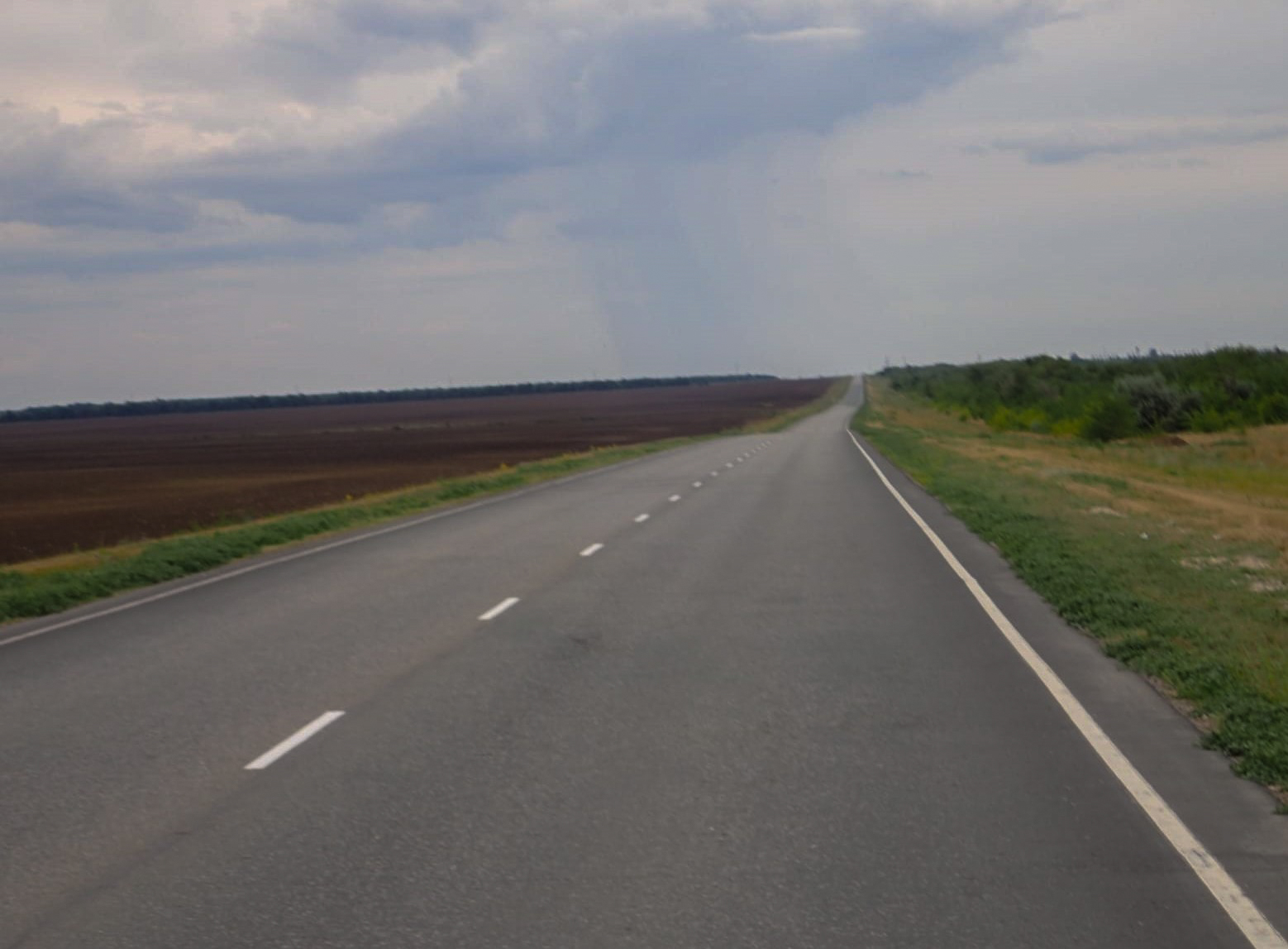 A lonely road in Russia