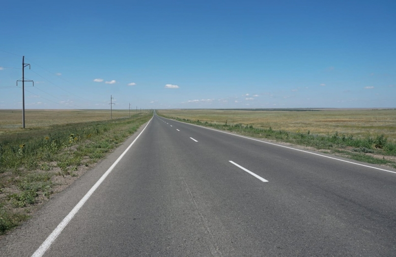 Improved roads in Kazakhstan. Possibly Chinese Silk Road investment