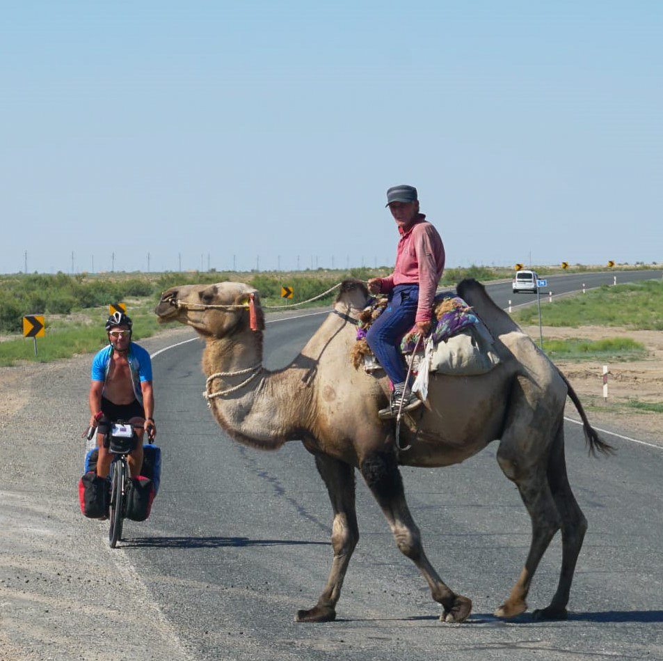 They have Camel Crossings in Kazakhstan!