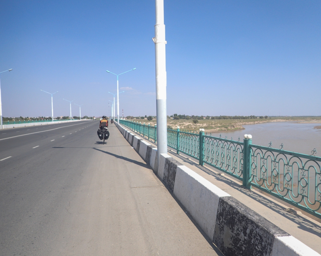 The Amu Darya (Oxus) river