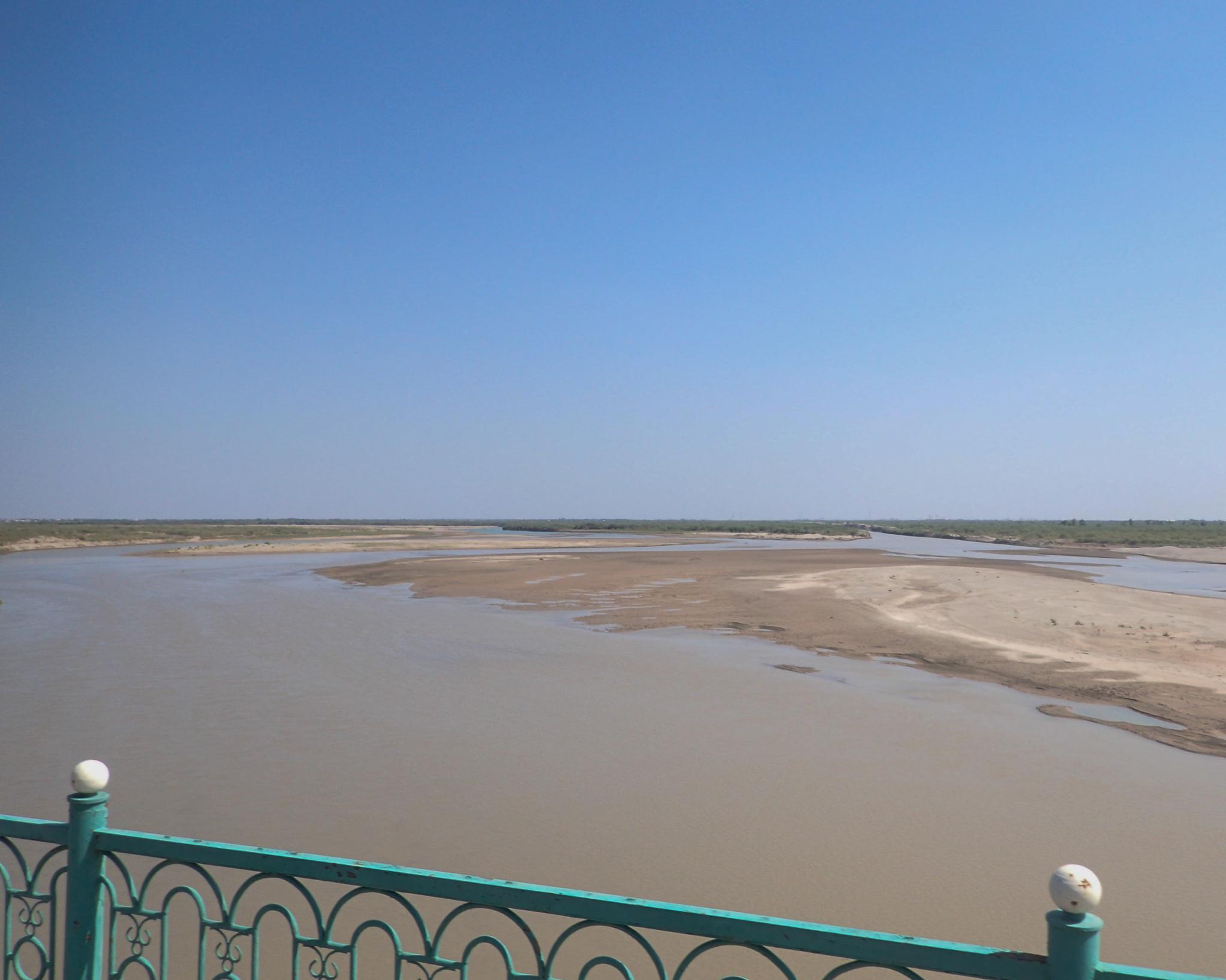 The Amu Darya (Oxus) river