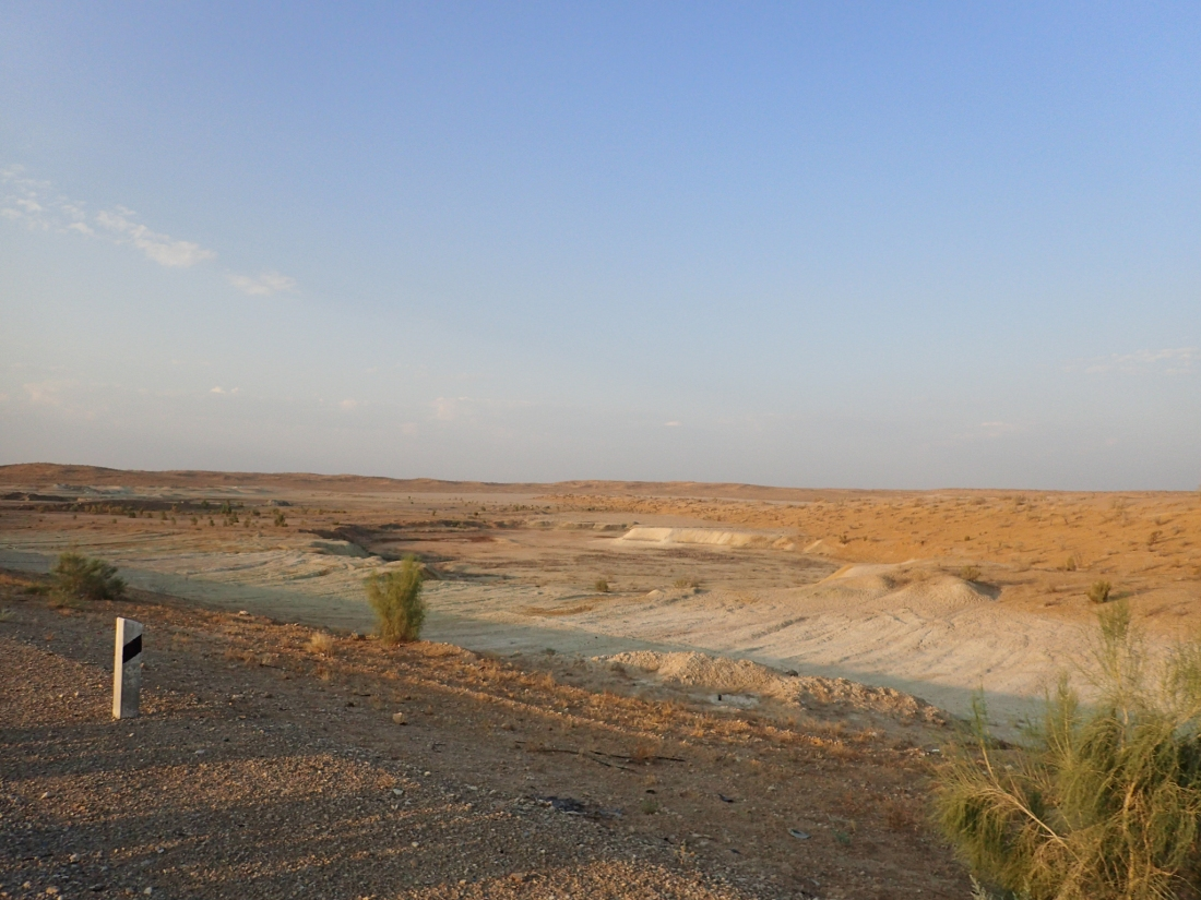 Flat desert