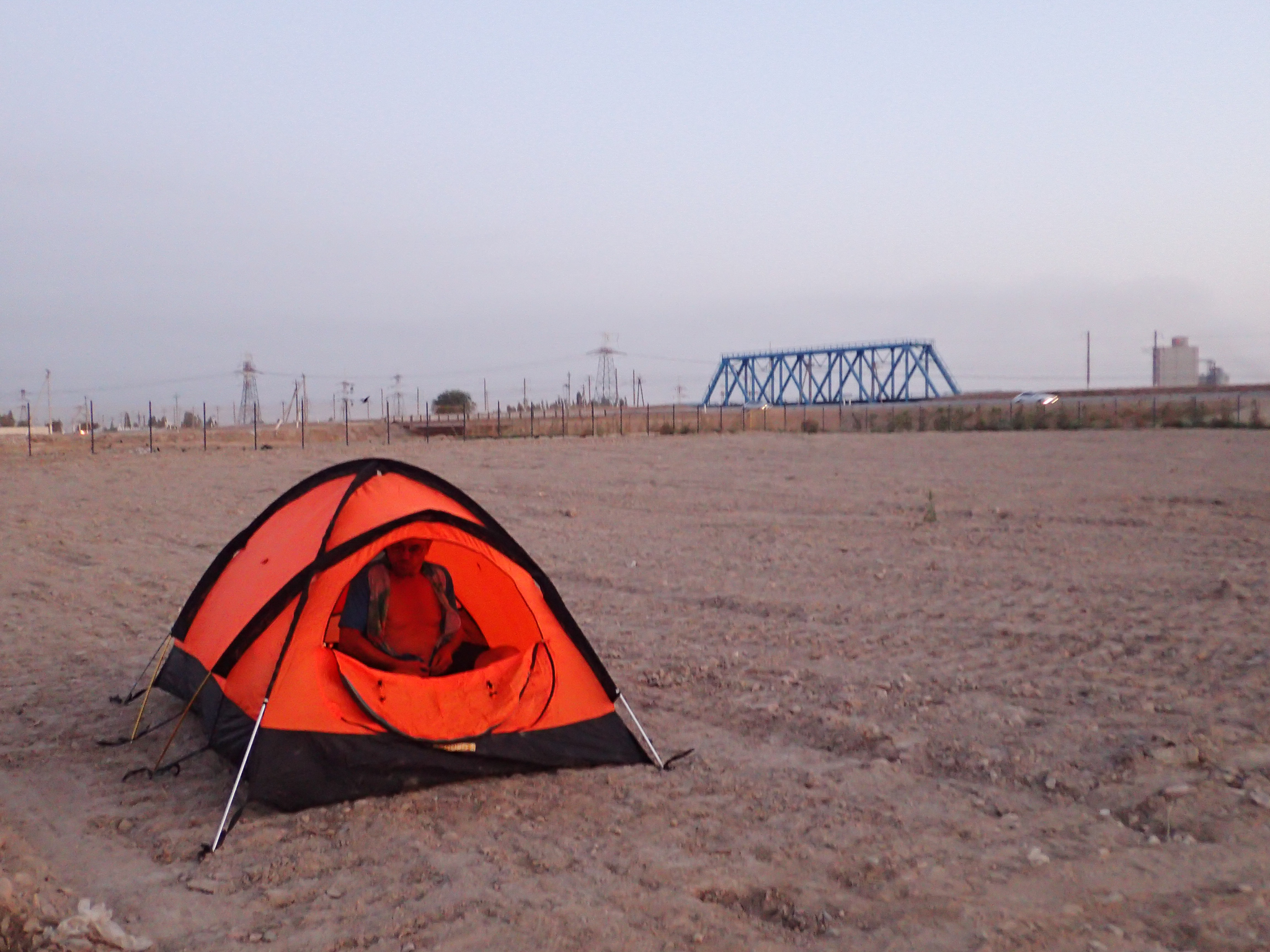 Overnight camp near Almalyk