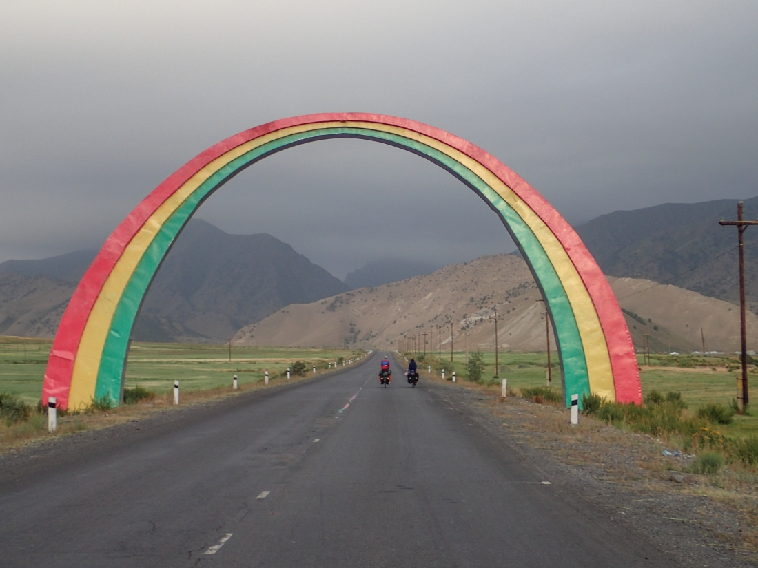 Fabulous sculpture on the Pamir Highway