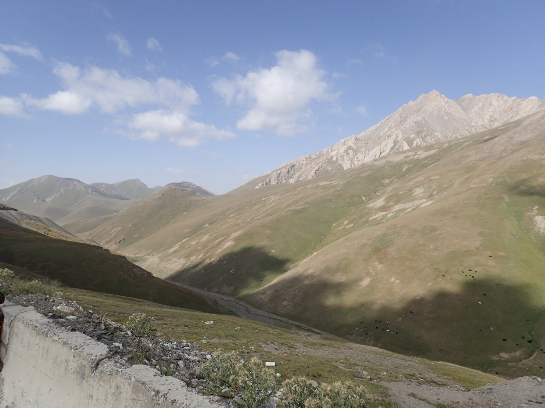 View of the Pamir Mountains