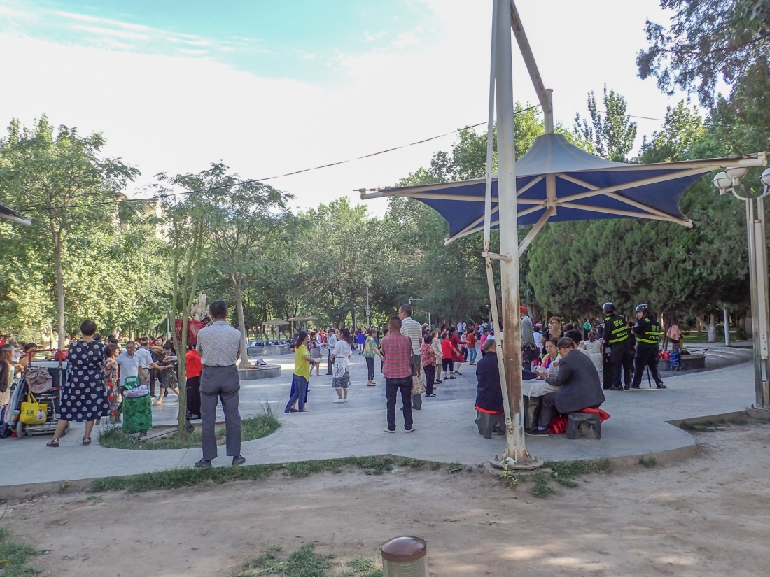 Morning Tai Chi in Kashgar