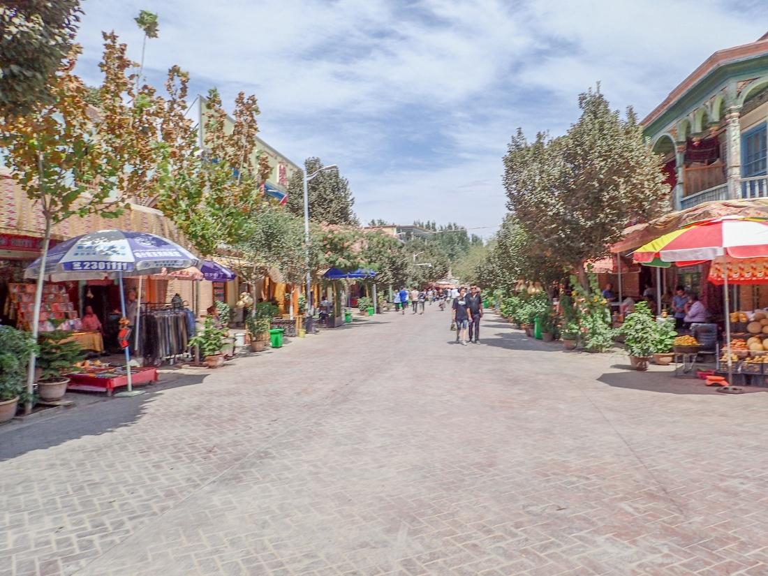 Pedestrian market lane, Kashgar