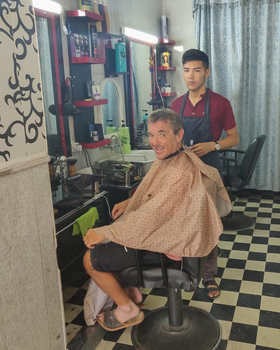 Dale gets a haircut