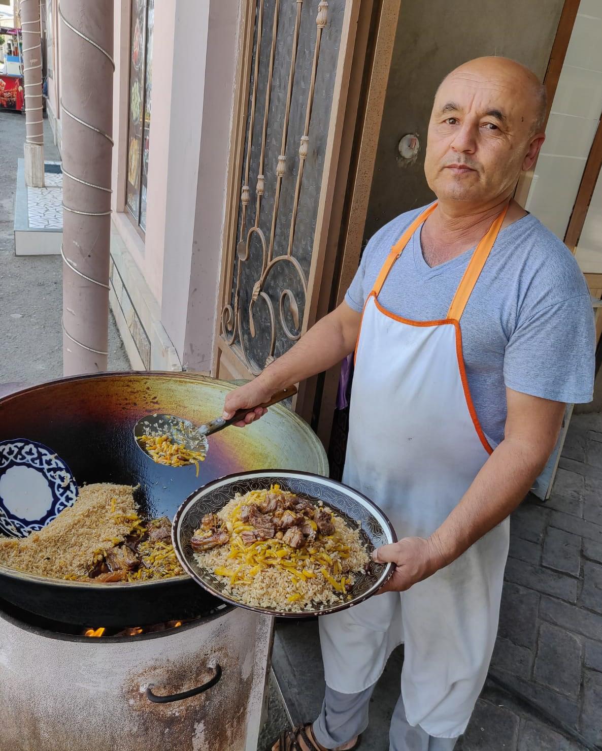Pilov lunch in Samarkand