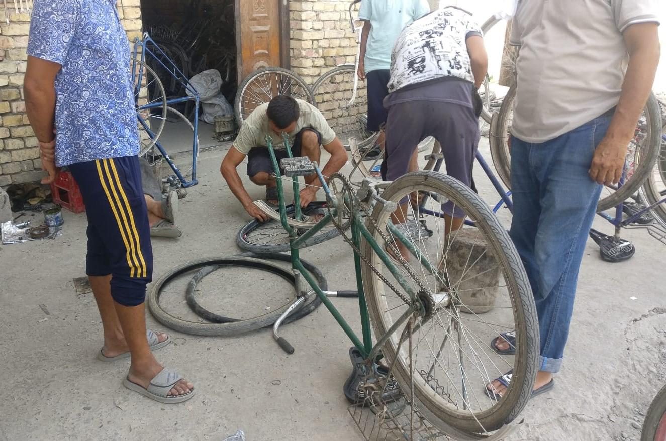 Bike repair shop in Shankhrikhan