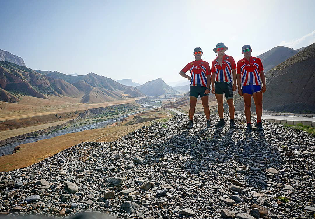 Keith, Linford and Dale at the Alay Pass