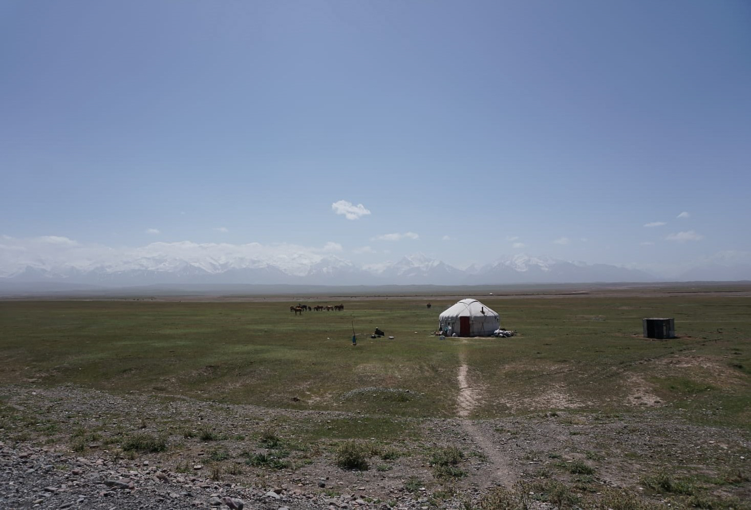 A traditional Yurt of the horse herders