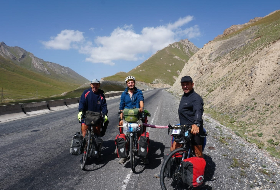 Dale, Ted (from Staple, Kent) and Keith on the Pamir Highway