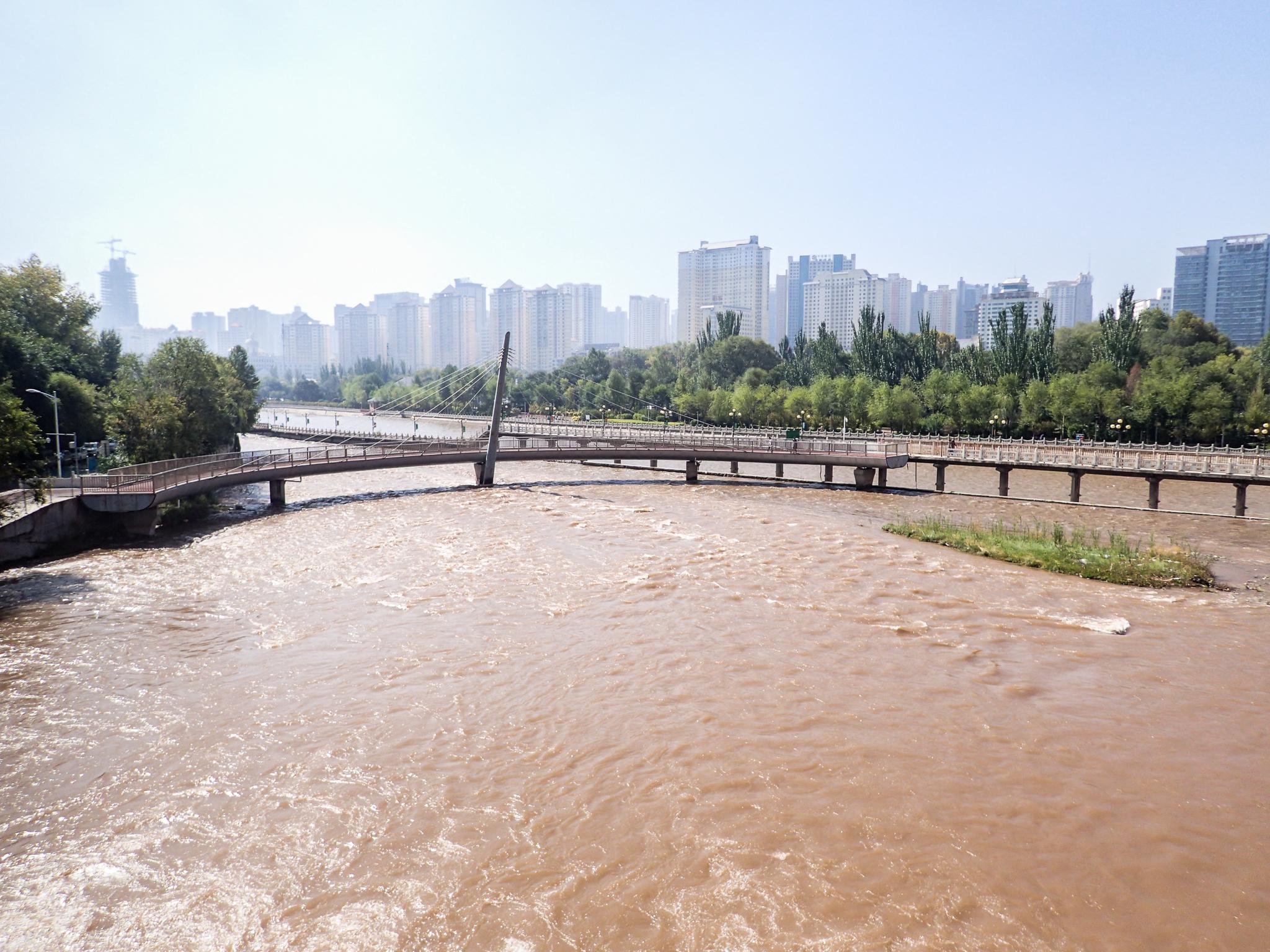 The Huangshui river at Huangyuan