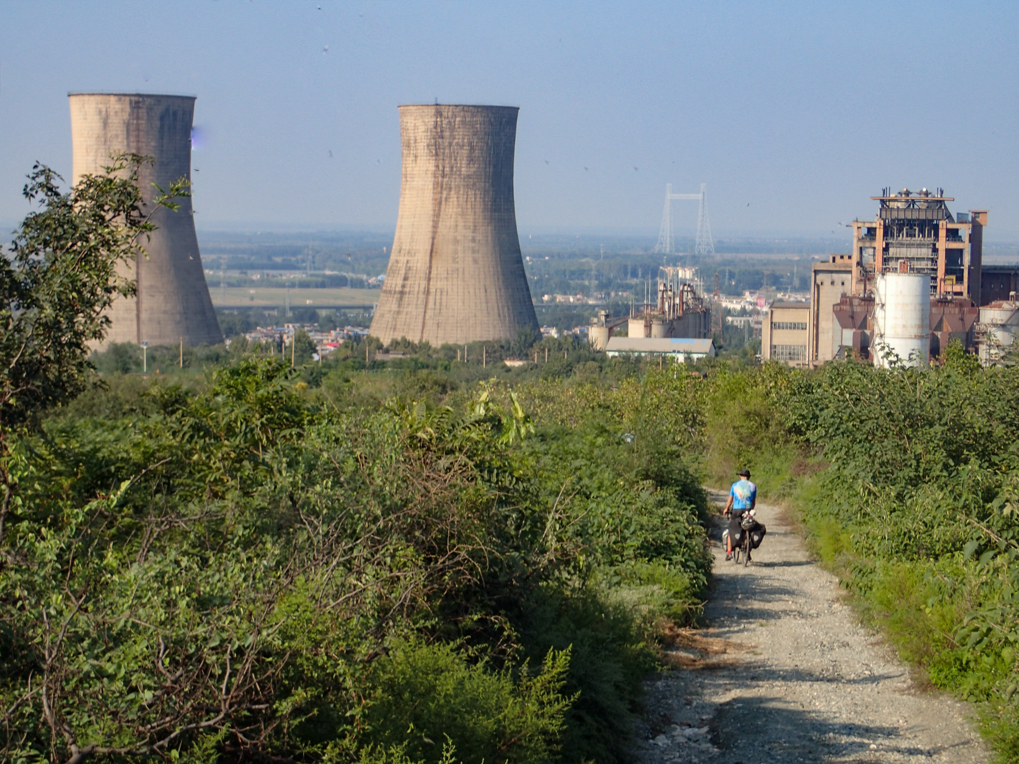 On a track past the Power Station