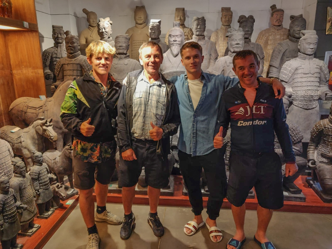 Linford, Keith, Ryland and Dale at the Terracotta Army, Xi'an