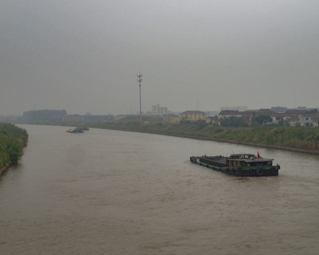 Barge on the Yangtze river