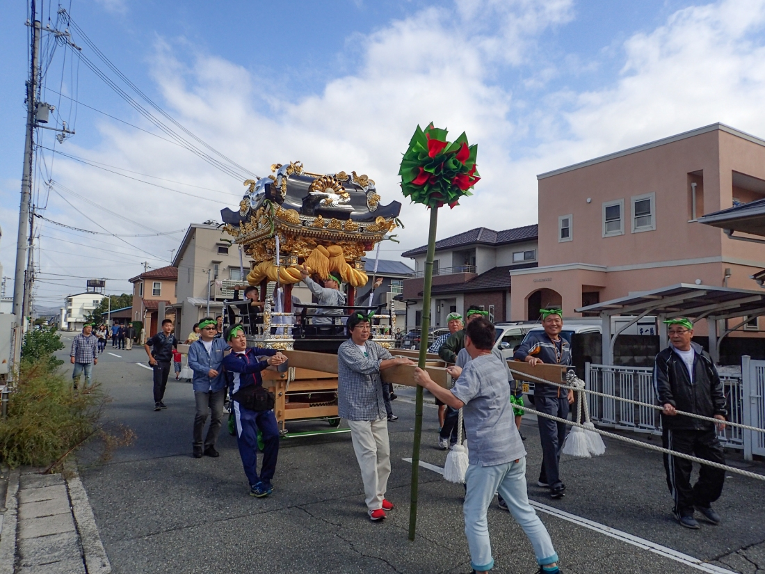Autumn festival with Mikoshi Shrine