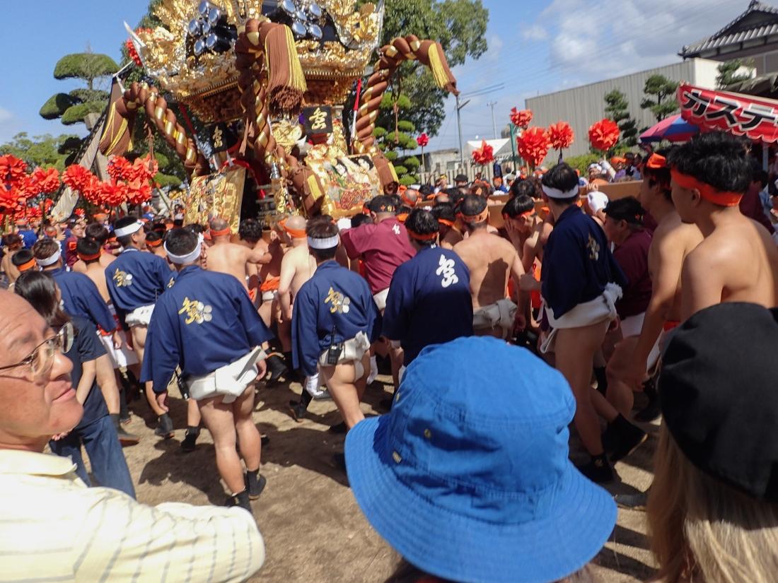 Autumn festival with Mikoshi Shrine