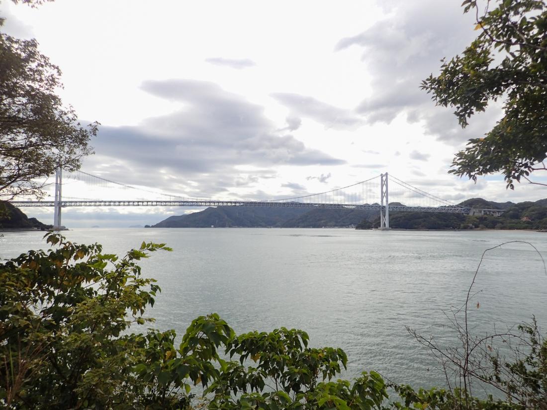 Approaching the Ikuchi bridge
