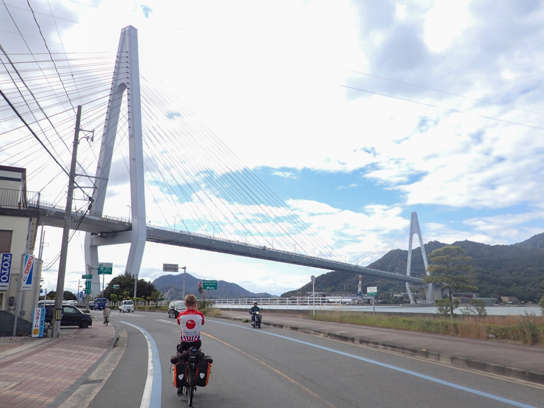 Approaching the Tatara bridge