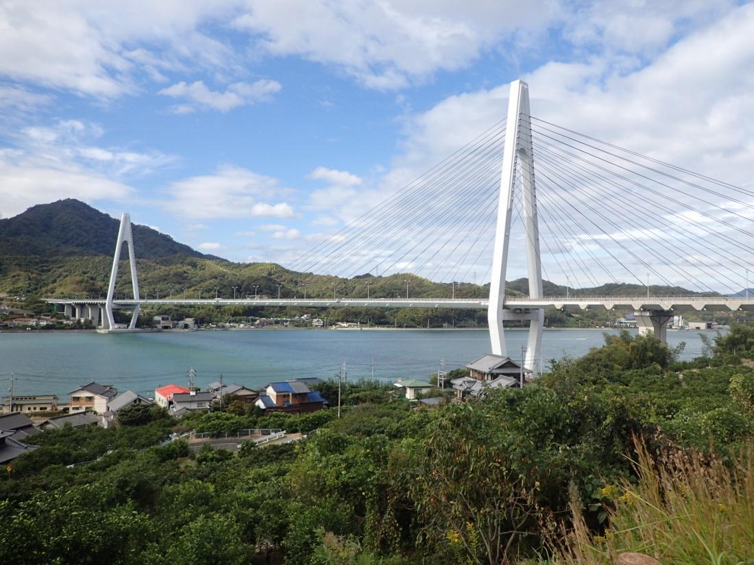 Approaching the Tatara bridge