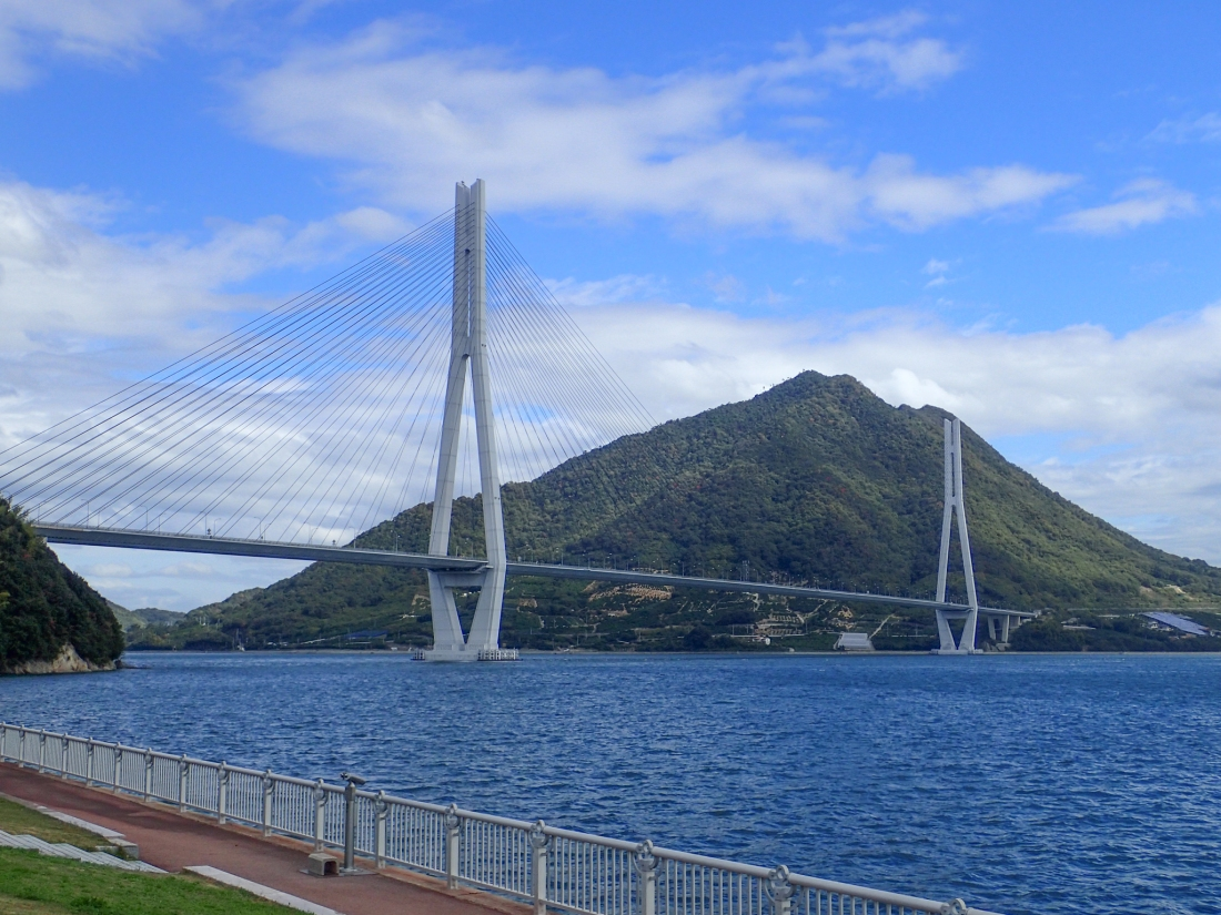 Looking back at the Tatara bridge