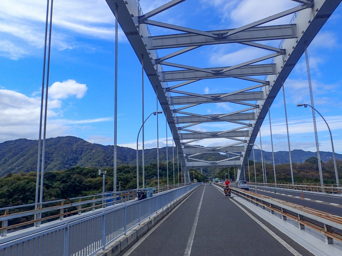 On the Omishima bridge