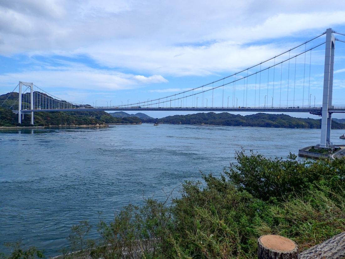 Looking back on the Oshima bridge
