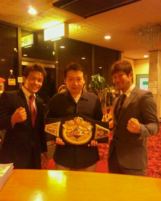 Kick Boxing champion Klahan Prapun at the hotel in Onomichi
