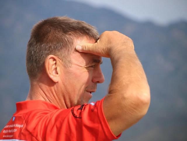 At the Great Wall of China. Keith.