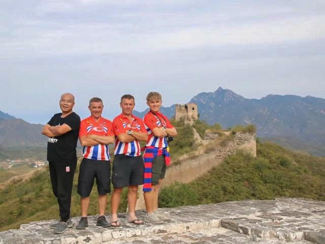 At the Great Wall of China. Photographer, Dale, Keith and LInford