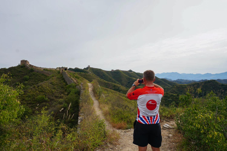 At the Great Wall of China. Keith