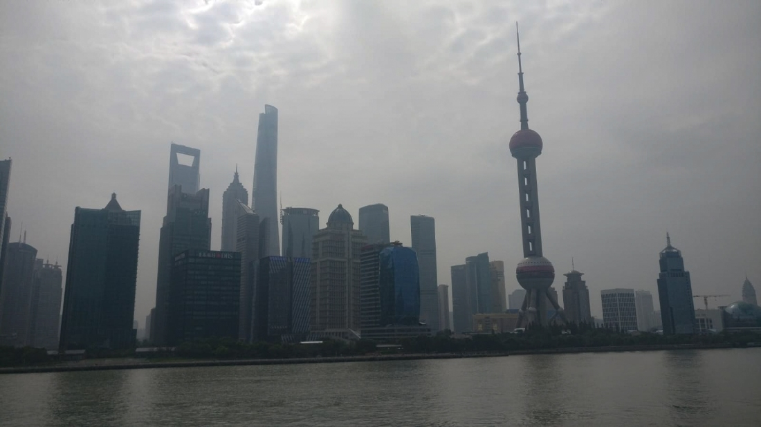 Leaving Shanghai on the ferry.