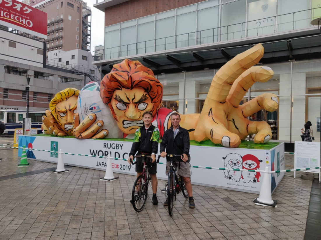 Linford and Keith in Oita