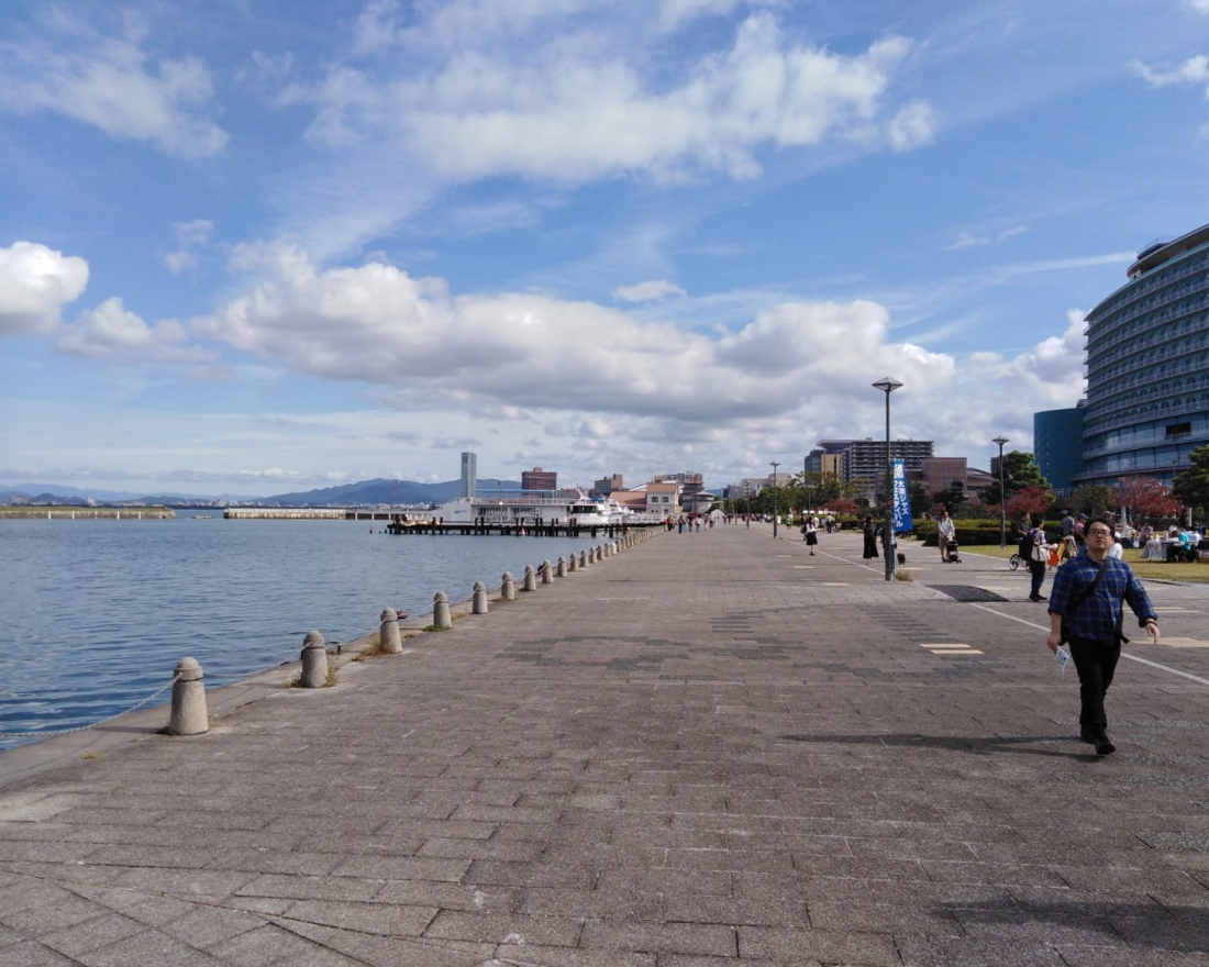 On the shores of Lake Biwa