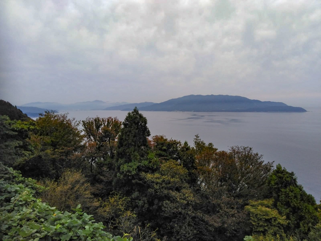 A view of the sea - Wakasa-wan (which I think is the name of the bay)