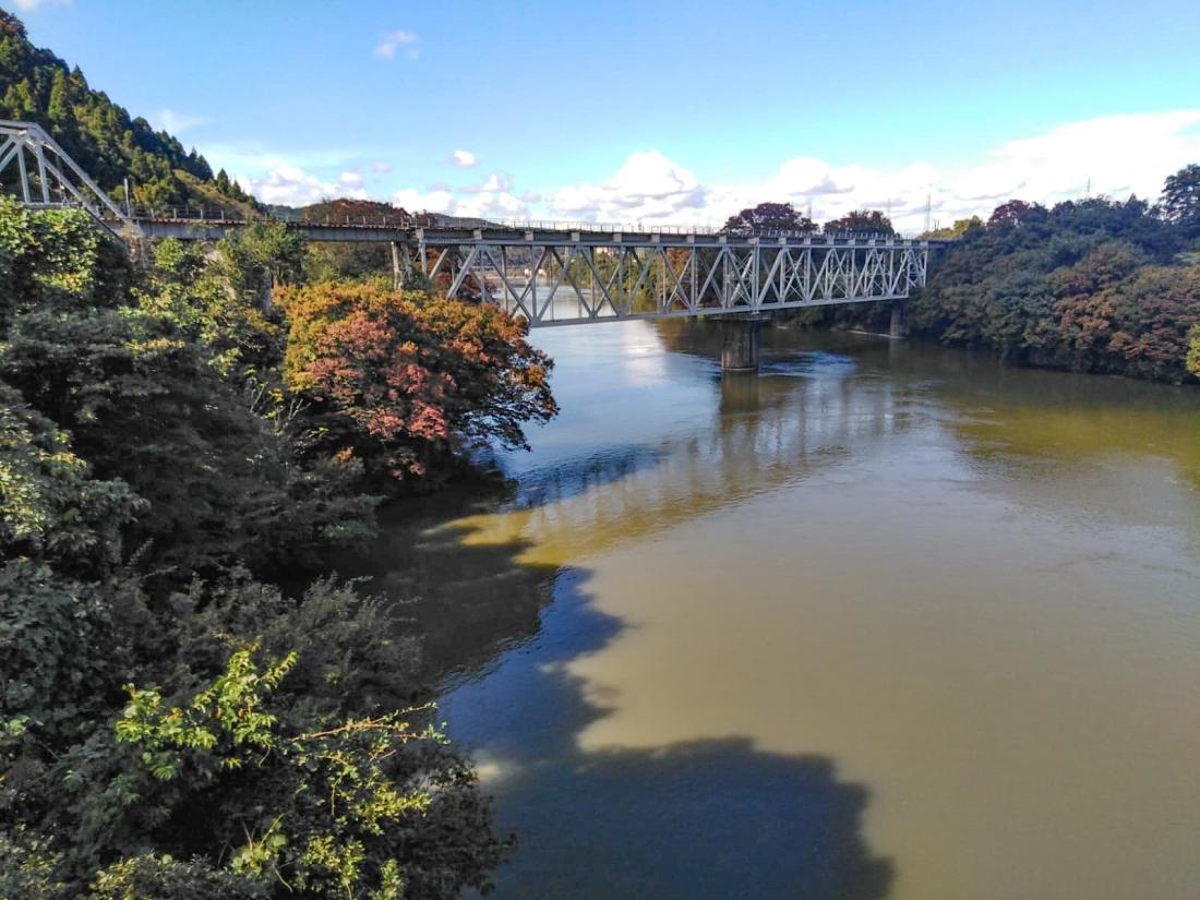 Takahara river (or perhaps the Jinzu again)