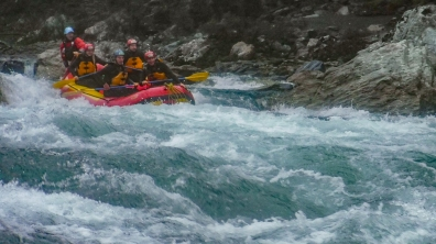 Whitewater rafting on the Yoshino River in Kochi Prefecture, Japan with Happy Raft!