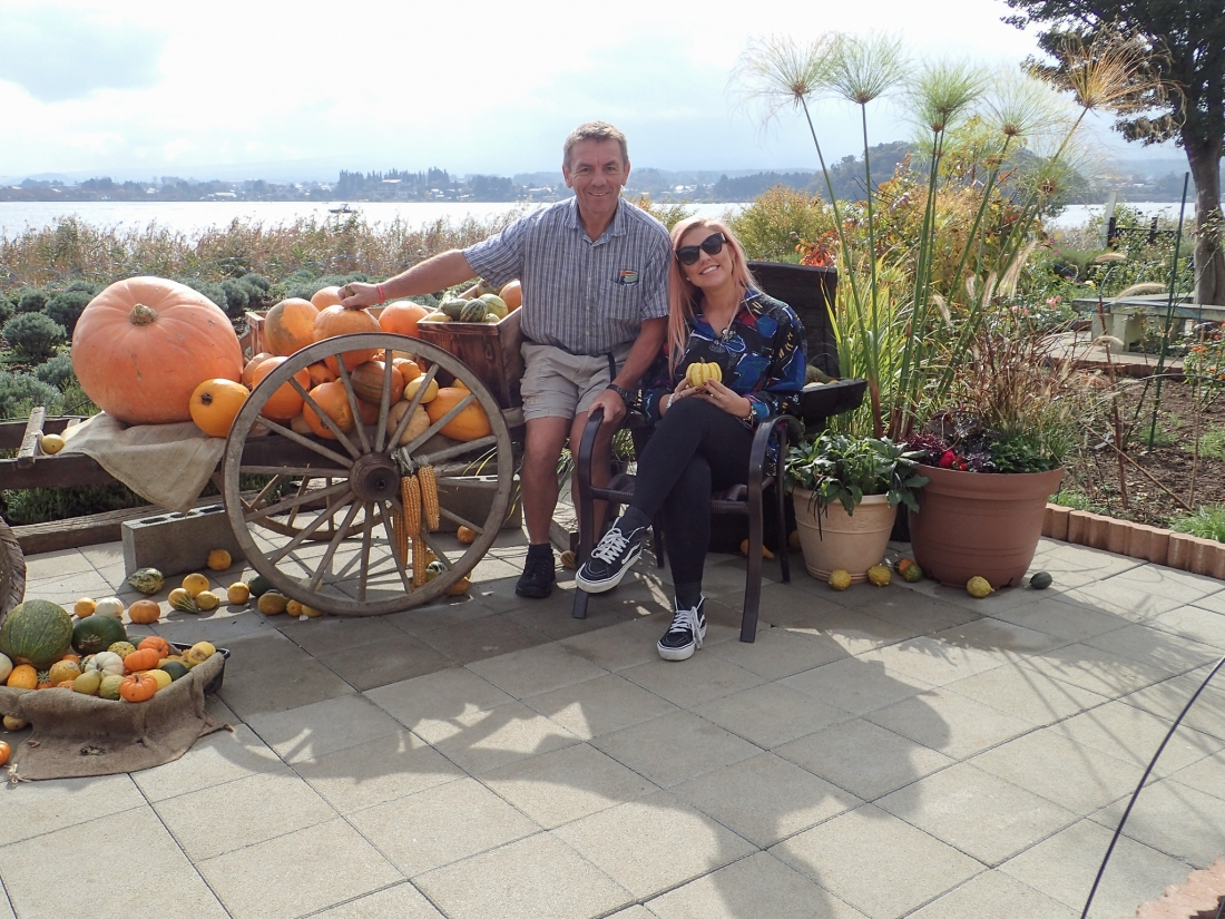 Keith and Charlee with pumpkins